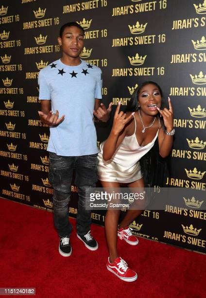 Kouran Mayweather and Jirah Mayweather attend her Sweet 16 Birthday Party at Hyatt In Valencia on June 20 2019 in Valencia California