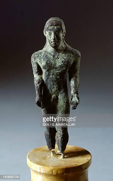 Kouros in bronze, from Lignano . Etruscan Civilization, 500-480 BC. Arezzo, Museo Archeologico Statale Nazionale 'Gaio Cilnio Mecenate'