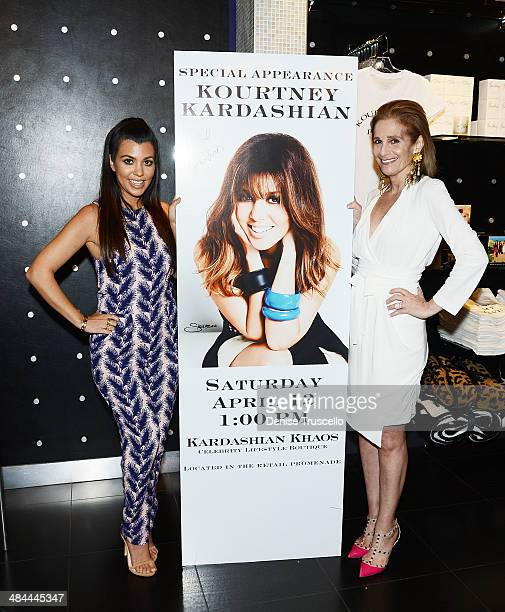 Kourtney Kardashian and Cici Bussey during Kourtney Kardashian's special appearance at Kardashian Khaos at The Mirage Hotel and Casino on April 12...