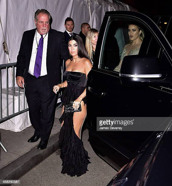 Kourtney Kardashian and Khloe Kardashian arrive to the 2016 Angel Ball on November 21 2016 in New York City