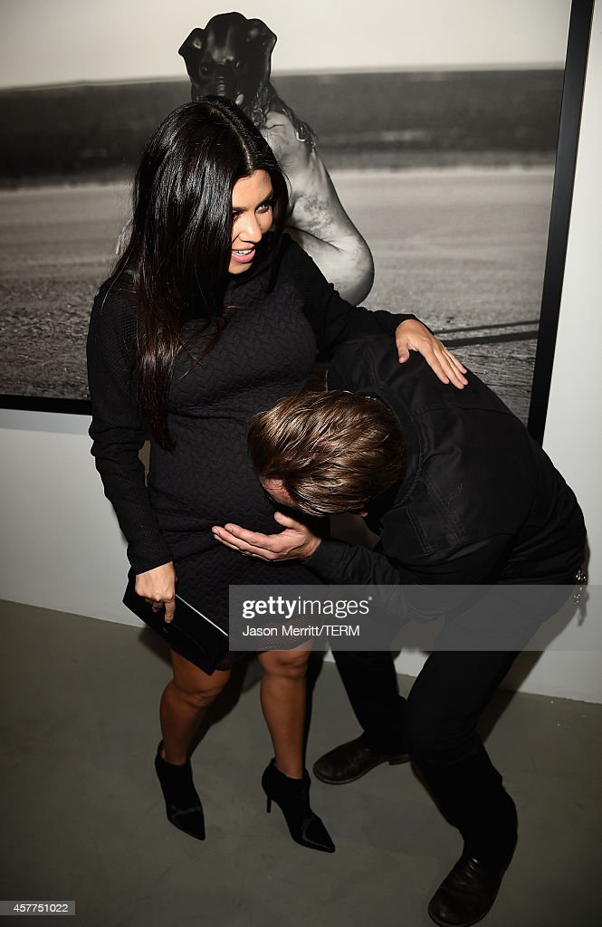Kourtney Kardashian and photographer Brian Bowen Smith attend the Brian Bowen Smith WILDLIFE show hosted by Casamigos Tequila at De Re Gallery on October 23, 2014 in West Hollywood, California.