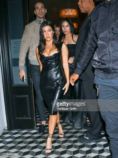 Kourtney Kardashian and Q'orianka Kilcher are seen on November 02 2019 in Los Angeles California