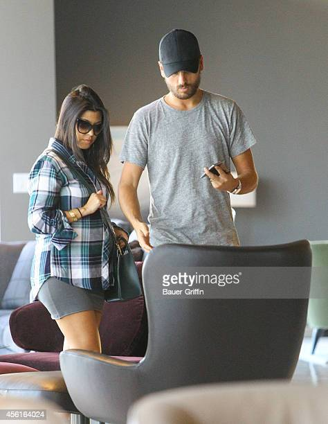 Kourtney Kardashian and Scott Disick are seen on September 26 2014 in Los Angeles California