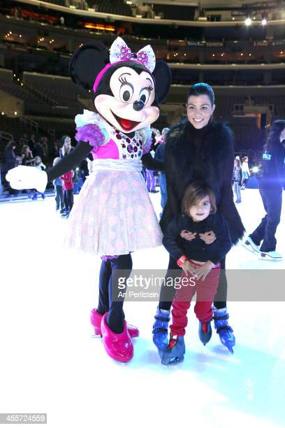 Kourtney Kardashian and son Mason Disick attend Disney On Ice Presents 'Rockin' Ever After' Premiere/Skating Partyat Staples Center on December 12...