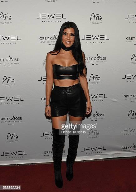Kourtney Kardashian arrives at JEWEL Nightclub at ARIA Resort Casino on May 22 2016 in Las Vegas Nevada