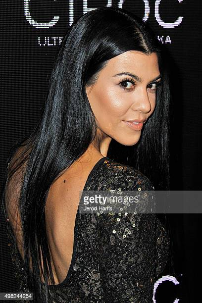 Kourtney Kardashian arrives at Sean 'Diddy' Combs Exclusive Birthday Celebration on November 21 2015 in Beverly Hills California