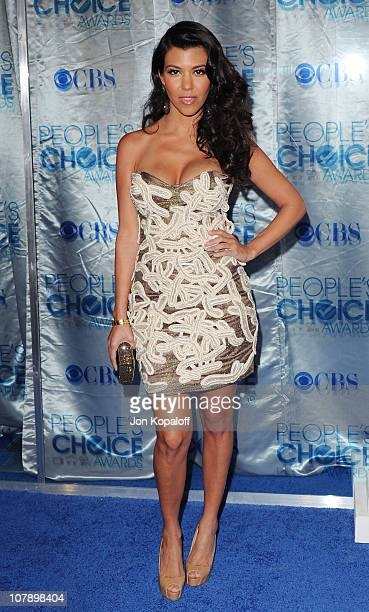Kourtney Kardashian arrives at the 2011 People's Choice Awards at Nokia Theatre LA Live on January 5 2011 in Los Angeles California