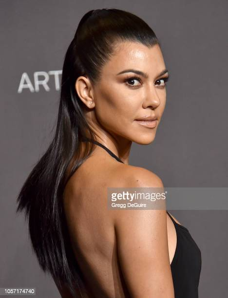 Kourtney Kardashian arrives at the 2018 LACMA Art Film Gala at LACMA on November 3 2018 in Los Angeles California