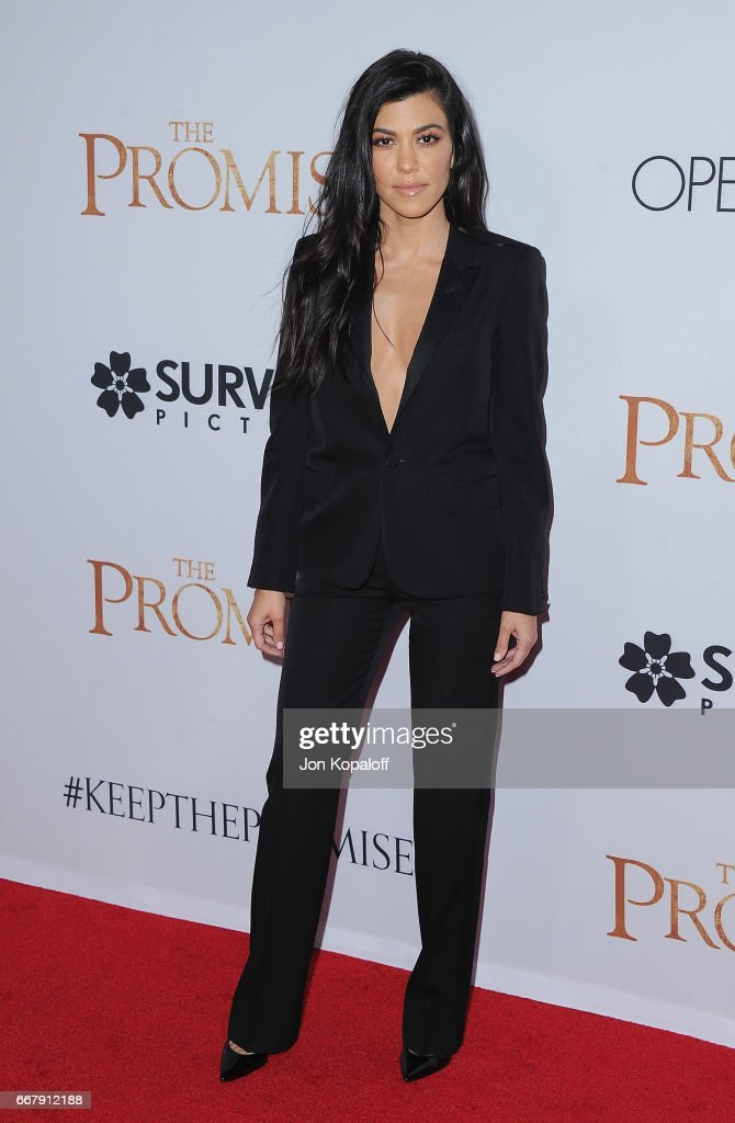 Kourtney Kardashian arrives at the Los Angeles Premiere 'The Promise' at TCL Chinese Theatre on April 12, 2017 in Hollywood, California.
