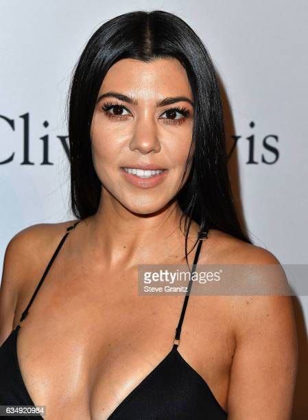 Kourtney Kardashian arrives at the PreGRAMMY Gala and Salute to Industry Icons Honoring Debra Lee on February 11 2017 in Los Angeles California