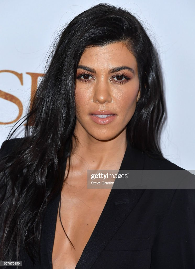 Kourtney Kardashian arrives at the Premiere Of Open Road Films' 'The Promise' at TCL Chinese Theatre on April 12, 2017 in Hollywood, California.