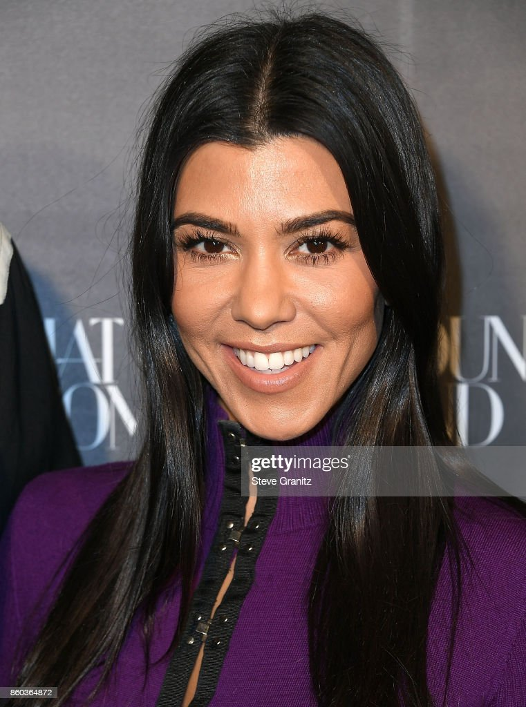 Kourtney Kardashian arrives at the What Goes Around Comes Around One Year Anniversary at What Goes Around Comes Around on October 11, 2017 in Beverly Hills, California.