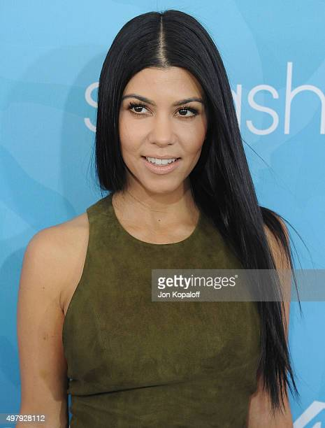 Kourtney Kardashian arrives at WWD And Variety Inaugural Stylemakers' Event at Smashbox Studios on November 19 2015 in Culver City California