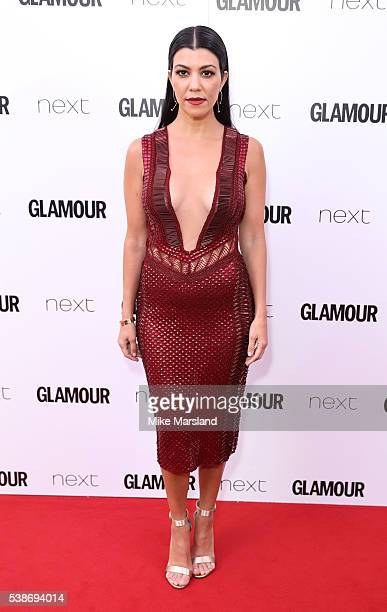 Kourtney Kardashian arrives for the Glamour Women Of The Year Awards on June 7 2016 in London United Kingdom
