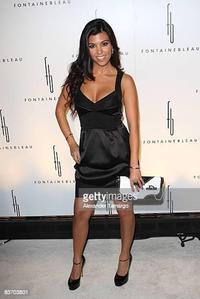 Kourtney Kardashian arrives for the grand opening of Fontainebleau Miami Beach on November 14, 2008 in Miami Beach, Florida.