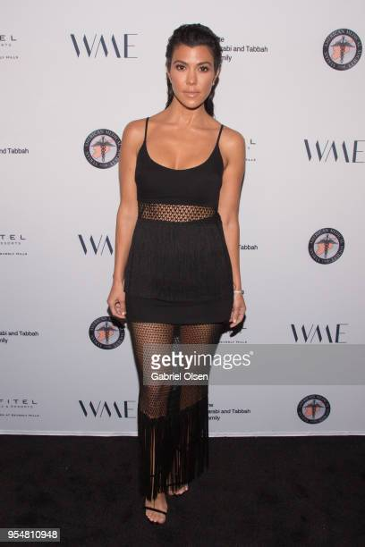 Kourtney Kardashian arrives for The Syrian American Medical Society hosts the Voices in Displacement Gala at Riviera 31 at Sofitel on May 4 2018 in...