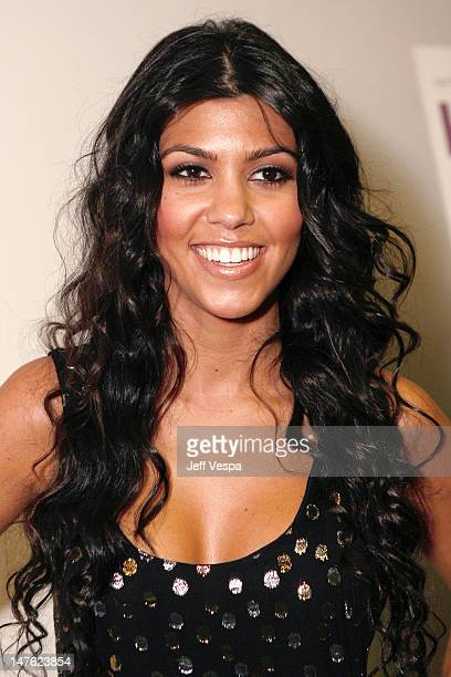 Kourtney Kardashian at the Keeping Up With The Kardashians premiere party on October 9 2007 in West Hollywood California