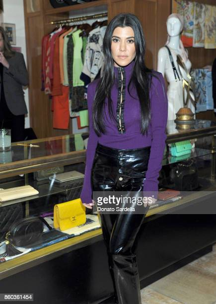 Kourtney Kardashian at What Goes Around Comes Around Beverly Hills Anniversary on October 11 2017 in Beverly Hills California