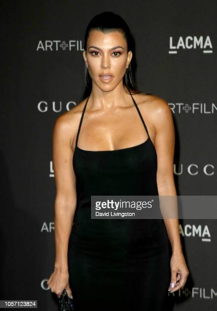 Kourtney Kardashian attends 2018 LACMA Art Film Gala honoring Catherine Opie and Guillermo del Toro presented by Gucci at LACMA on November 3 2018 in...