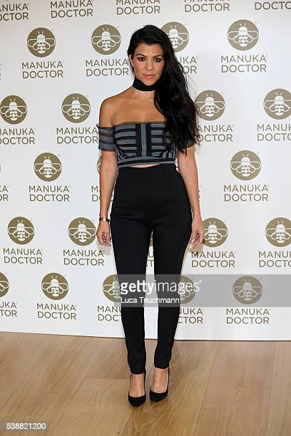 Kourtney Kardashian attends a photocall as Global Brand Ambassador for Manuka Doctor at The London Edition Hotel on June 8 2016 in London England