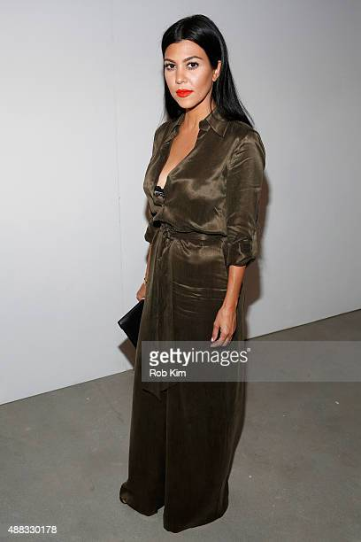 Kourtney Kardashian attends Alice Olivia By Stacey Bendet Spring 2016 during New York Fashion Week The Shows at The Gallery Skylight at Clarkson Sq...