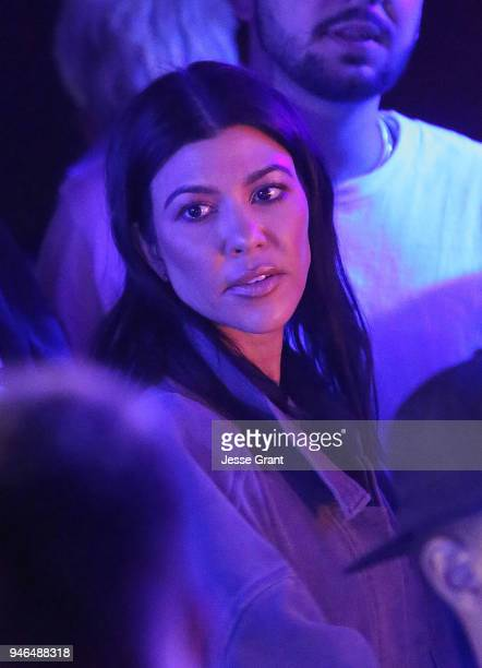 Kourtney Kardashian attends Cash App's Friends Keep Secrets on April 14 2018 in Indio California