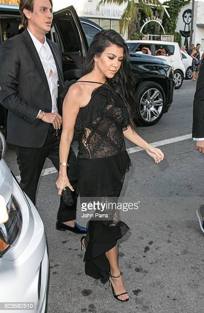 Kourtney Kardashian attends David Grutman's and model Isabela Rangel wedding in Wynwood Wall on April 23 2016 in Miami Florida