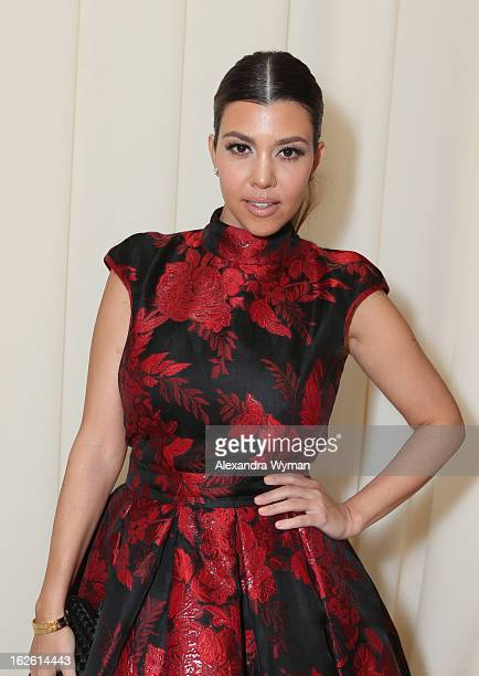 Kourtney Kardashian attends Grey Goose at 21st Annual Elton John AIDS Foundation Academy Awards Viewing Party at West Hollywood Park on February 24...