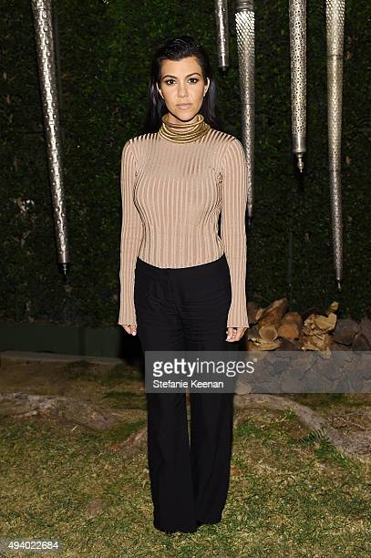 Kourtney Kardashian attends Olivier Rousteing Beats Celebrate In Los Angeles at Private Residence on October 23 2015 in Los Angeles California