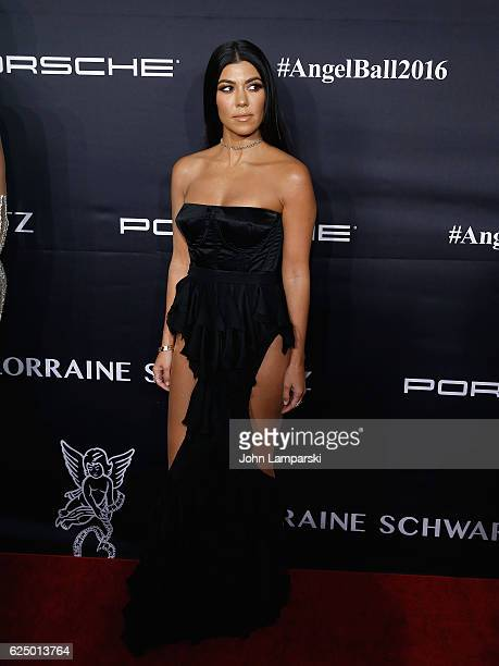 Kourtney Kardashian attends the 2016 Angel Ball at Cipriani Wall Street on November 21 2016 in New York City