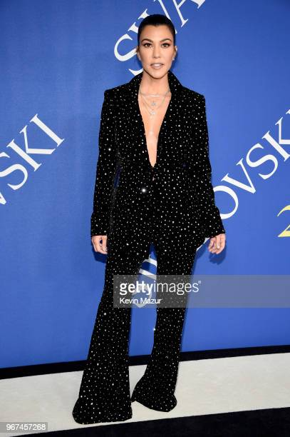 Kourtney Kardashian attends the 2018 CFDA Fashion Awards at Brooklyn Museum on June 4, 2018 in New York City.