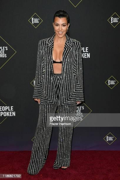 Kourtney Kardashian attends the 2019 E People's Choice Awards at Barker Hangar on November 10 2019 in Santa Monica California