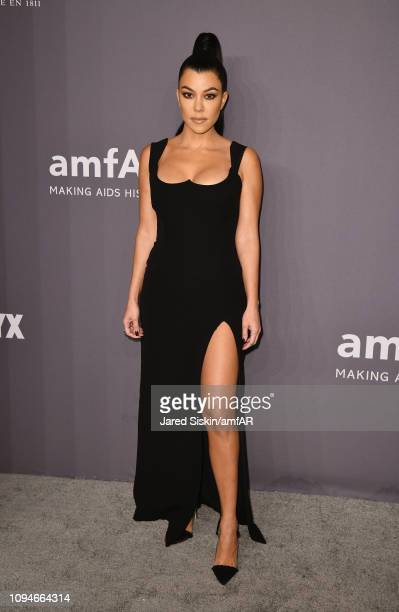 Kourtney Kardashian attends the amfAR New York Gala 2019 at Cipriani Wall Street on February 6 2019 in New York City