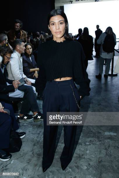 Kourtney Kardashian attends the Haider Ackermann show as part of the Paris Fashion Week Womenswear Spring/Summer 2018 on September 30 2017 in Paris...