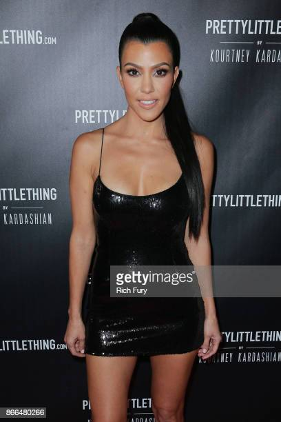 Kourtney Kardashian attends the launch of PrettyLittleThing by Kourtney Kardashian on October 25 2017 in Los Angeles California