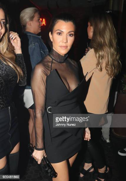 Kourtney Kardashian attends the LIV On Sunday For MVP Weekend event At Avenue Los Angeles Hosted By French Montana and presented By Remy Martin on...