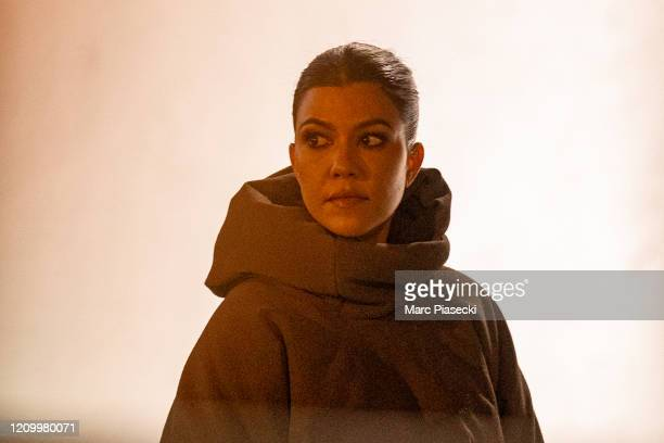 Kourtney Kardashian attends the Yeezy Season 8 show as part of the Paris Fashion Week Womenswear Fall/Winter 2020/2021 on March 02 2020 in Paris...