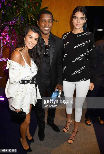 Kourtney Kardashian Babyface and Kendall Jenner attend the Los Angeles Premiere of Apple Music's CAN'T STOP WON'T STOP A BAD BOY STORY at The WGA...