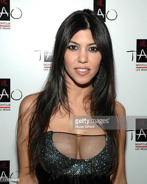 Kourtney Kardashian during Kim Kardashian Host TAO Las Vegas' First Princess Party April 6 2007 at The Venetian in Las Vegas Nevada United States
