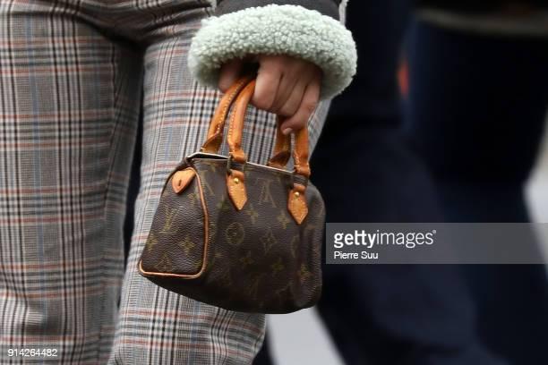 Kourtney Kardashian handbag detail is seen in central Park on February 4 2018 in New York City