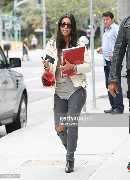Kourtney Kardashian is seen in Beverly Hills on June 09 2015 in Los Angeles California