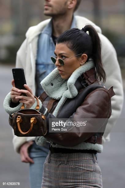 Kourtney Kardashian is seen in central Park on February 4 2018 in New York City