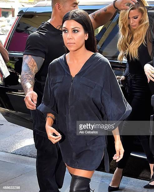 Kourtney Kardashian is seen in Soho on September 16 2015 in New York City