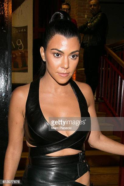 Kourtney Kardashian is seen leaving the 'Alaia' showroom on October 2 2016 in Paris France