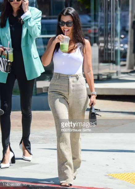 Kourtney Kardashian is seen on August 20, 2019 in Los Angeles, California.