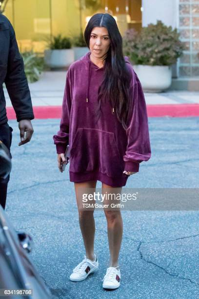 Kourtney Kardashian is seen on February 07 2017 in Los Angeles California