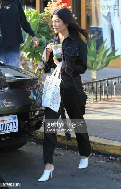 Kourtney Kardashian is seen on February 12 2018 in Los Angeles California