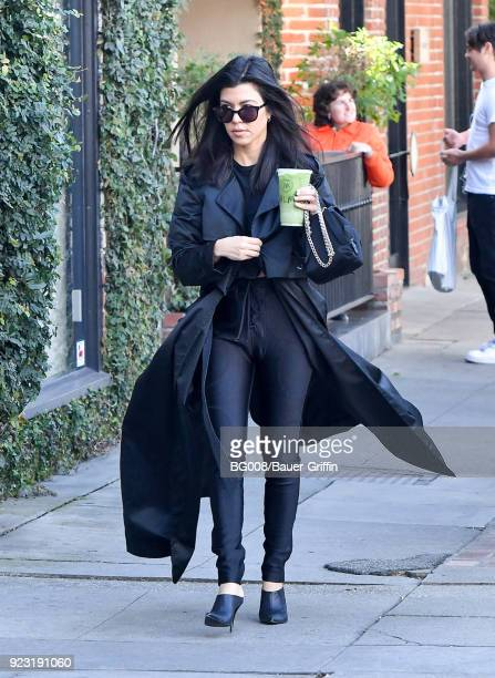 Kourtney Kardashian is seen on February 22 2018 in Los Angeles California