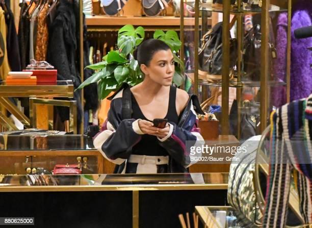 Kourtney Kardashian is seen on November 27 2017 in Los Angeles California