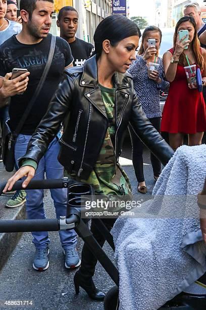 Kourtney Kardashian is seen on September 16 2015 in New York City